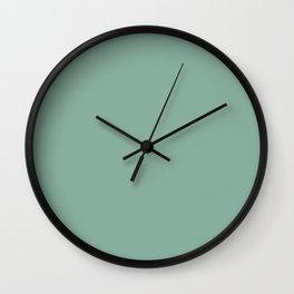 Deep Celadon Solid Wall Clock