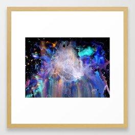 Pastel Nebula Bloom Framed Art Print