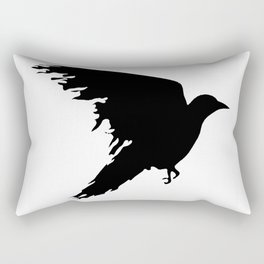 Ragged Raven Silhouette Rectangular Pillow