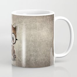 Cute Nerdy Red Panda Wearing Glasses Coffee Mug