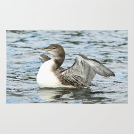 Baby loon all grown up Rug