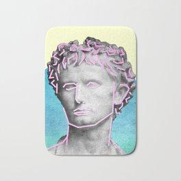 Aesthetic 90's Retro Vaporwave Augustus statue Bath Mat