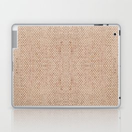 Beige flax cloth texture abstract Laptop & iPad Skin