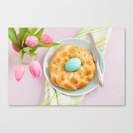 Easter breakfast table Canvas Print