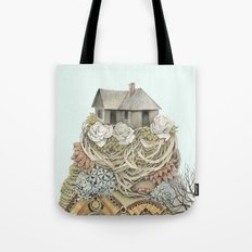 Sweet Home I // Forest Illustration Tote Bag