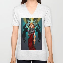 The Woman who Cried Reaper Unisex V-Neck