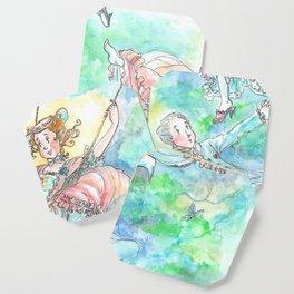 Illustration of L' Escarpolette by Joshua B. Wichterich Art Coaster