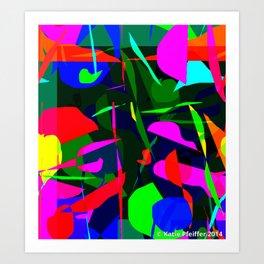 Mod Abstract Drawing Aligning The  Chakras Art Print