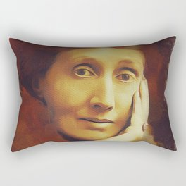 Virginia Woolf, Literary Legend Rectangular Pillow
