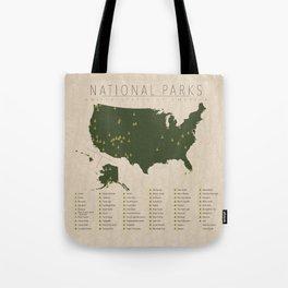 US National Parks Tote Bag