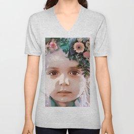 Flower girl Unisex V-Neck