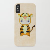 tigger iPhone & iPod Cases featuring A Boy - Tigger by Christophe Chiozzi