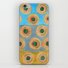 Circles in Front of a Beach iPhone Skin