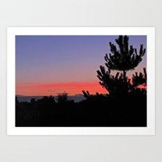 July Sunrise over London Art Print