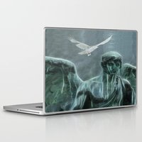 angel Laptop & iPad Skins featuring Angel by Lucia