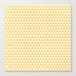 triangles - yellow and white Canvas Print