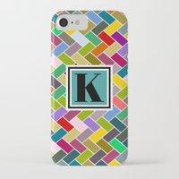 monogram iPhone & iPod Cases featuring K Monogram by mailboxdisco