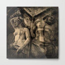 The Sentinels | Sepia Metal Print