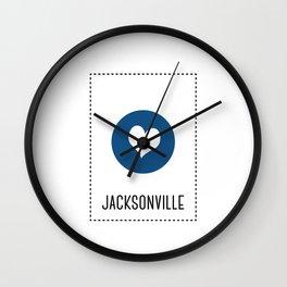 I love Jacksonville Wall Clock