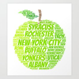 New York State Apple Art Print