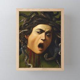 Medusa- Caravaggio Framed Mini Art Print