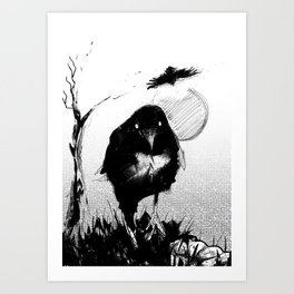 Carrion Bird Art Print