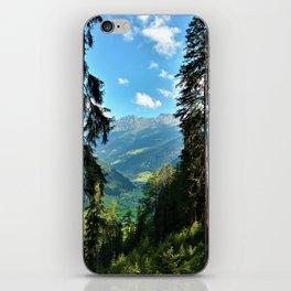 forest panorama kaunertal alps tyrol austria europe iPhone Skin