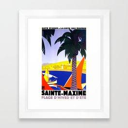 Sainte Maxime  Framed Art Print