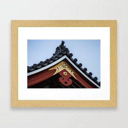 Tempel Roof Framed Art Print