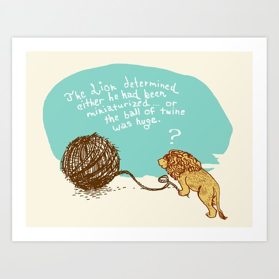 Unethical Mind Experiments on Miniaturized Animals Art Print
