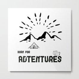 Born for Adtentures – Safari Metal Print