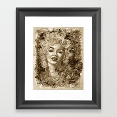 blonde bombshell - sepia version Framed Art Print
