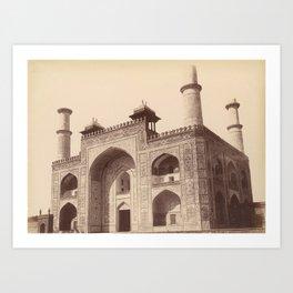 Akbar's Tomb at Sikandra - Vintage Indian Photography Art Print