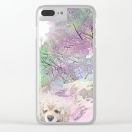 Snow Dog (for Philippa) Clear iPhone Case