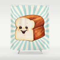 bread Shower Curtains featuring Bread by Kelly Gilleran
