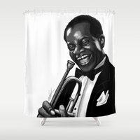 louis Shower Curtains featuring Louis by Simone Bellenoit : Art & Illustration