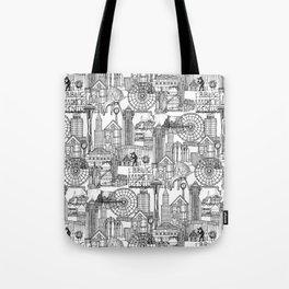 Seattle black white Tote Bag