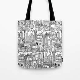 Seattle black white Tote Bag