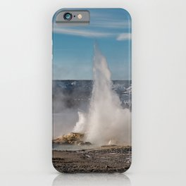 Spasm geyser in Yellowstone National Park iPhone Case