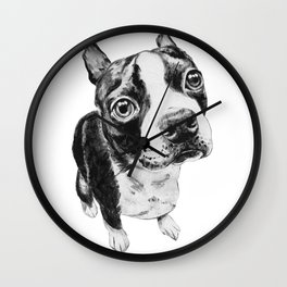 Ollie the Boston Terrier Wall Clock