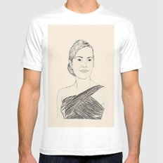 Kate Winslet Portrait Mens Fitted Tee White MEDIUM