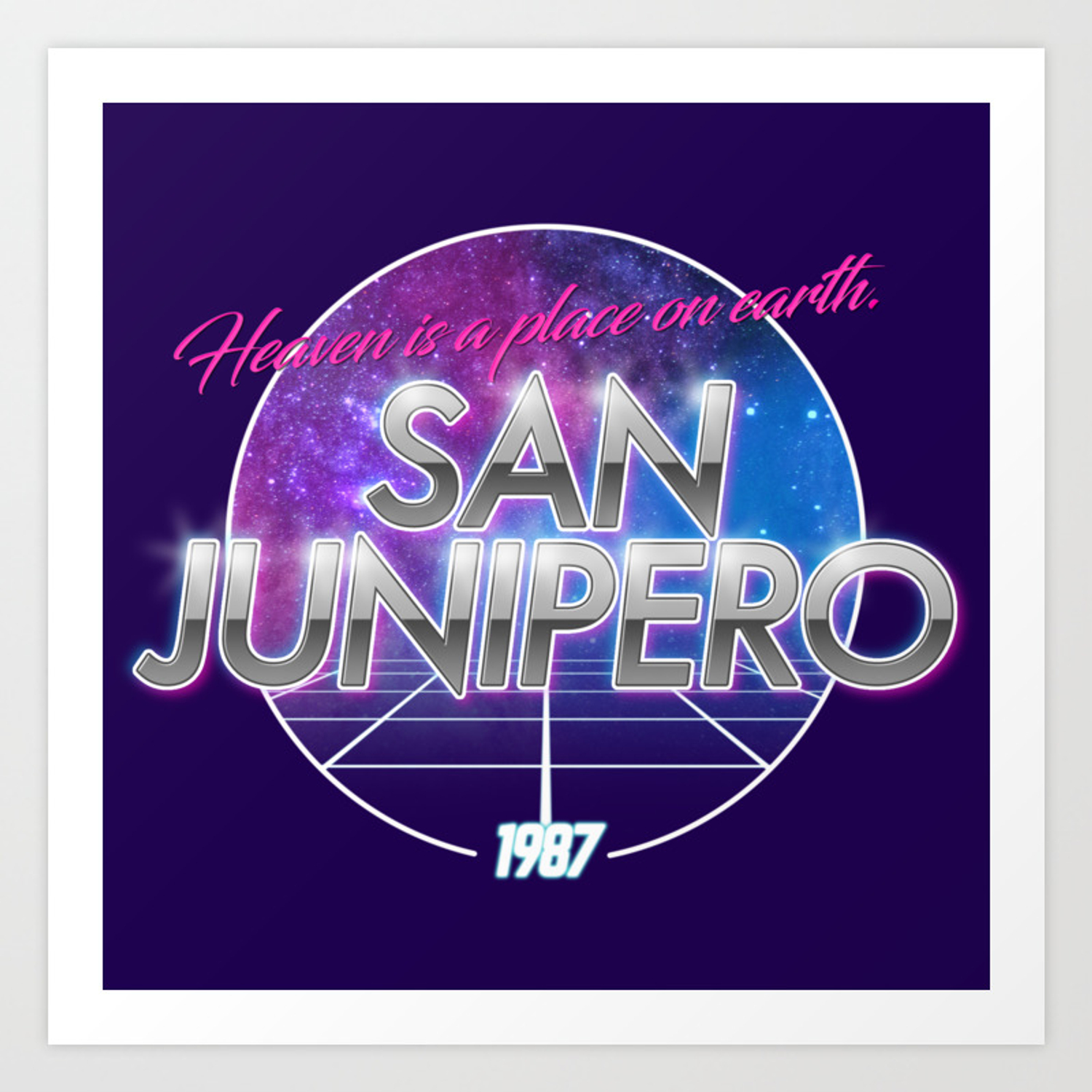 dddaaffdd San Junipero - Black Mirror Art Print by jliogrossi | Society6