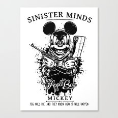 Sinister Minds. Mickey Canvas Print