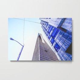 pyramid building and modern building at San Francisco, USA Metal Print