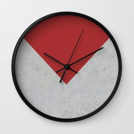 Red & Grey Concrete Wall Clock
