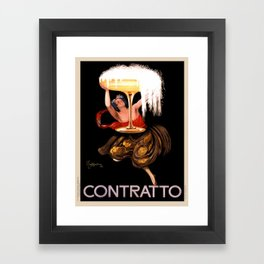 Vintage poster - Contratto Framed Art Print