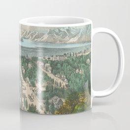 Vintage Pictorial Map of Salt Lake City UT (1870) Coffee Mug