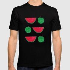 Watermelon & Apple Black Mens Fitted Tee MEDIUM