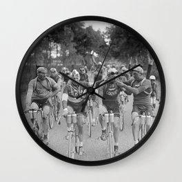 Tour De France - Vintage Photograph Cigarette Break Wall Clock