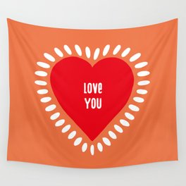 love you Wall Tapestry
